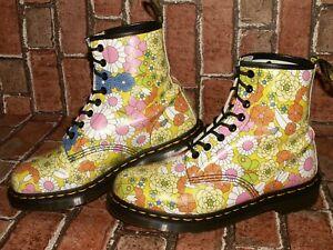 Dr. Martens 1460 VINTAGE DAISY floral leather boots uk 7 eu 41 us 9 Doc#147