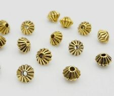 200/1000PCS Tibetan Silver Glod Bronze Spacer Beads For Jewelry Making 5x4mm