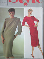 VINTAGE STYLE SEWING PATTERN WOMEN'S DRESS SIZE 8-10-12 UN-USED