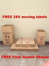 15X50L +10X100L Cardboard Packing Boxes Removal Moving Storage Heavy Duty Carton