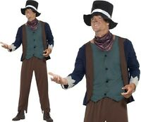 Mens Poor Victorian Man Fancy Dress Costume Male Dodger Outfit New by Smiffys