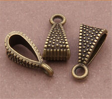 PJ457 20pcs Antique Bronze Charms Pendant Hanger Bails Necklace Connector