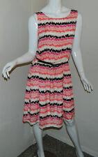 Women George Multicolor Blouson Sleeveless Casual Work Geometric Dress M