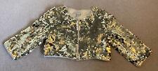 Gorgeous Monsoon Girls Gold Sequin Shrug Bolero Jacket 9-10 Years, Vgc