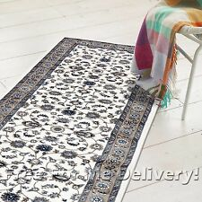 ROSA TRADITIONAL WHITE BEIGE CLASSIC FLOOR RUG RUNNER 80x300cm **FREE DELIVERY**