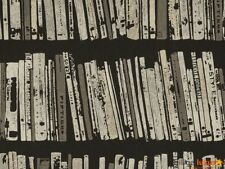 AS Creation Black/Grey Book Shelf Case Wallpaper (9443-20)