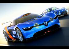 "BLUE RENAULT ALPINE NEW A4 CANVAS GICLEE ART PRINT POSTER 11.7"" x 8.3"""
