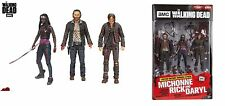 The walking dead série tv HEROES 3-Pack Action Figure Set, Michonne Daryl Rick