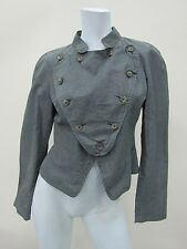 Vivienne Westwood Anglomania Women's Grey Striped Coat Jacket Size 42 Made Italy