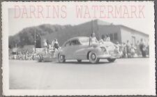 Vintage Car Photo Pretty Girls & 1946 Oldsmobile Automobile on Parade 736356