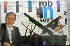 Vintage FUNNY NIKE Poster: David Robinson Dunks on Pianist Rudolf Firkušný Piano