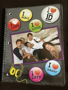 1D One Direction Wide Ruled Spiral Notebook Harry, Louis, Zayn, Liam, Niall