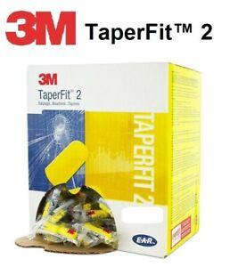 3M E-A-R TaperFit 2 Earplugs 200 pairs LARGE (Taper Fit II  26dB Class 5)