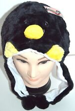 NEW Adults Kids Penguin faux fur animal hat winter christmas One size