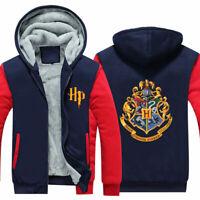 Harry Potter Hooded Sweatshirt Zipper Thicken Hoodie warm Jacket Winter Coat