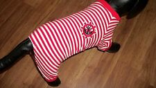 "dog pajamas,red,""sailor pj's"" XL for small plump dogs*(see details for size)"