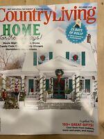 Country Living Magazine Christmas Holidays Edition December 2020.  Brand New