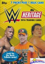 2016 Topps WWE Heritage Wrestling EXCLUSIVE Factory Sealed Blaster Box-RELIC!