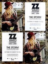 ZZ WARD The Storm 2017 Ltd Ed RARE Postcards Lot +FREE Rock Soul Pop Stickers!