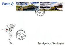 Faroes Faroe Islands 2017 FDC Sorvagsvatn Leitisvatn 2v Cover Landscapes Stamps