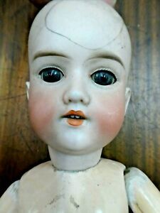 OLD PORCELAIN HEAD DOLL A&M 390 ARMAND MARSEILLE GERMANY COMPOSITION BODY