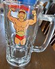 VINTAGE 1985 WWF HULKAMANIA TITAN SPORTS LARGE BEER STEIN MUG GLASS HULK HOGA