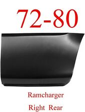 72 80 Dodge Ramcharger Right Rear Lower Bed Panel, Patch Panel 1580-138