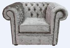 Chesterfield Low Back Club Armchair Shimmer Mink Fabric