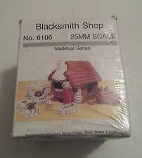 JR Miniatures Medieval series 25mm Blacksmith Shop Pack NIB 2002 No.6106