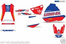 Graphic Kit Honda XR 400 Decal Wrap w/ Backgrounds/Rim Stickers XR400 R 96-04 LO