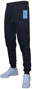 Mens Slim Fit Jogging Bottoms Plain Track Sweat Pants Skinny Zip Pockets S - 2XL