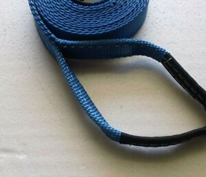 """Shifter Kart - Direct Drive Pull Strap - Start Rope - 2"""" Wide w/ Handle Blue"""