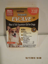 SERGEANT'S EVOLVE 21 FLEA&TICK SQUEEZE-ON FOR DOGS 21- 39-PoundS,FREE SHP-NIP!