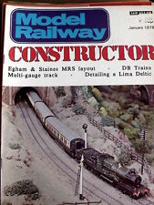 Model Railway Constructor January 1978 - More South devon Stations - Tr.20