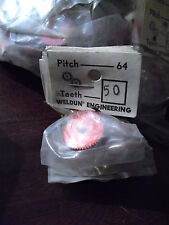 Vintage Lot of 5 Weldun Engineering Slot Car Gears Nip 64P 50 Teeth