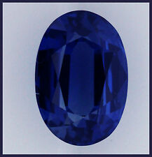 1.43ct!! NATURAL INTENSE BLUE SAPPHIRE EXPERTLY FACETED IN GERMANY +CERTIFICATE