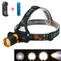 Underwater T6 LED Camping Swimming Headlight Diving Headlamp Head Torche 18650