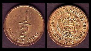 ★★ PEROU / PERU ● 1/2 SOL 1976 ● (ref6) ★★