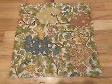 """Pottery Barn Butterflies and Flowers 20"""" Linen Blend Pillow Cover"""