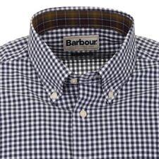 Nuevo con etiquetas barbour Caballeros Azul Marino y Blanco Compruebe camisa Calce Regular Tamaño Grande.