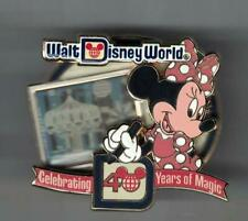 Disney WDW  Celebrating 40 Years of Magic Minnie Mouse Small World Pin LE 1500