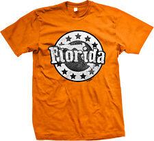 Florida US State Floridian Outline Sunshine From Born Stars Shape Men's T-Shirt