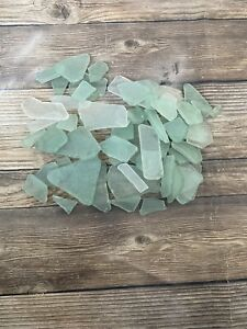 Light Green And Clear Sea Glass Vase Filler Crafts Mosaics Beach Decor Seaglass