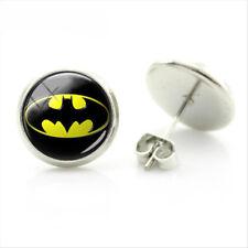 DC Comics Batman Bat Symbol Bat Girl Stud Party Earrings Jewellery Gift Bag