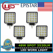 4X 48W SPOT Lamp Led Work Light Boat Tractor Truck Driving Offroad SUV FOG 4WD