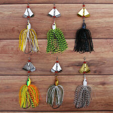 Fishing Spinnerbait Jigs Head Rubber Skirts Pike Bass Lure Buzzbait Spinner Bait