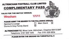 Ticket - Altrincham v Wrexham 01.01.11