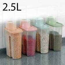 4pcs Large Capacity Airtight Dry Food Container Durable Cereal Storage Tank 2.5L