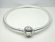 Authentic Pandora #590728-23cm Smooth Sterling Silver Clasp Bracelet