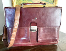 Vintage MONTBLANC BRIEFCASE WITH REMOVEABLE OVER SHOULDER STRAP AND HANDLE BROWN